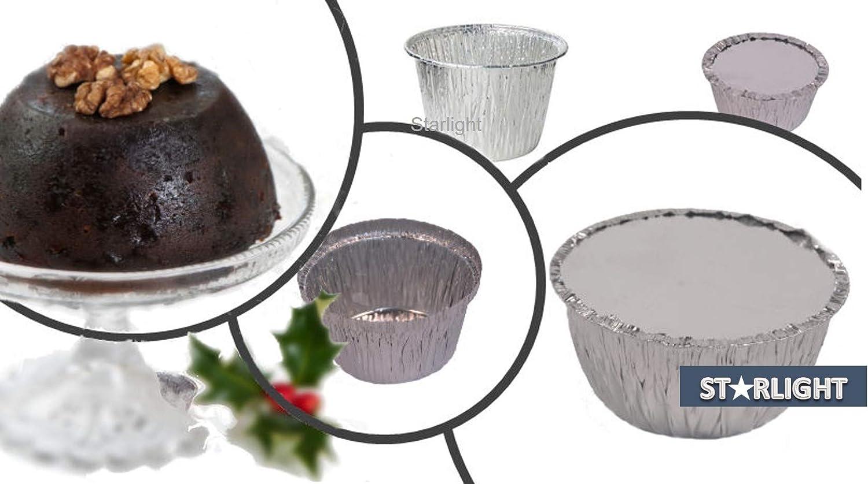 Essential Housewares 1LB Foil Christmas Xmas Pudding Basins