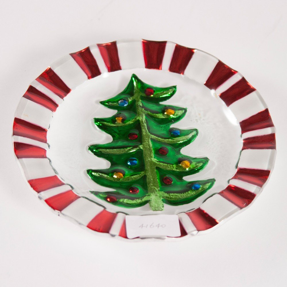 Christmas Tree Appetizer Plates