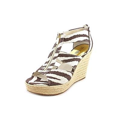 e0c6cd31e92 Michael Kors Damita Tiger Ankle Strap Wedge Sandal Women Size 11 M