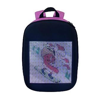 Xuba Smart - Mochila de Publicidad con LED, WiFi, inalámbrica, dinámica, con Pantalla de Publicidad para niños y niñas Rojo Rojo: Amazon.es: Hogar