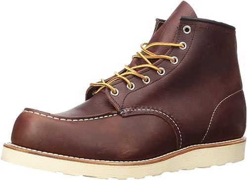 TALLA 41 EU. Red Wing Shoes - Zapatos de Cordones de Cuero para Hombre