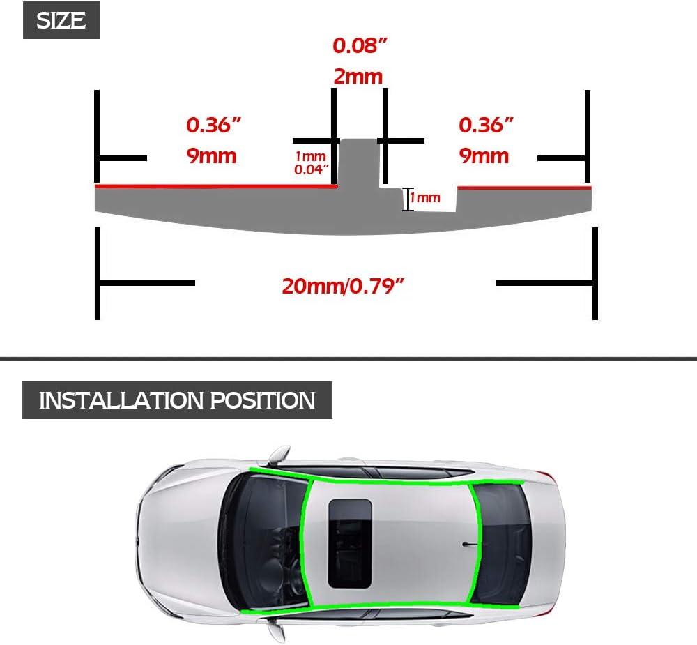 X AUTOHAUX 9.84ft Length Clear Universal Door Edge Guard Paint Protection Film Sticker