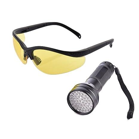 yunt UV linterna urine Detector 51 uv LED de luz negra para eingetrocknete manchas sus perros
