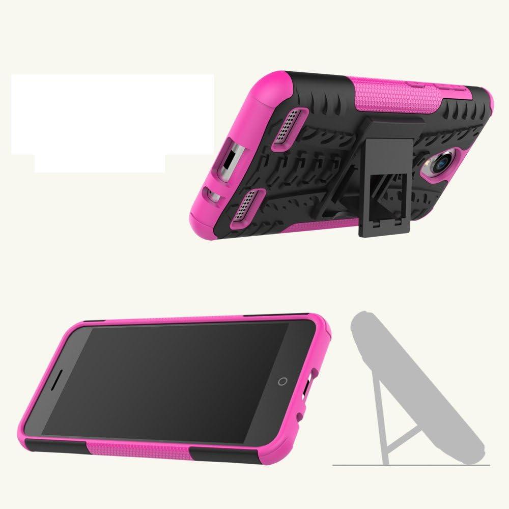ZTE Blade A520 Funda, FoneExpert® Heavy Duty silicona híbrida con soporte Cáscara de Cubierta Protectora de Doble Capa Funda Caso para ZTE Blade A520: Amazon.es: Oficina y papelería