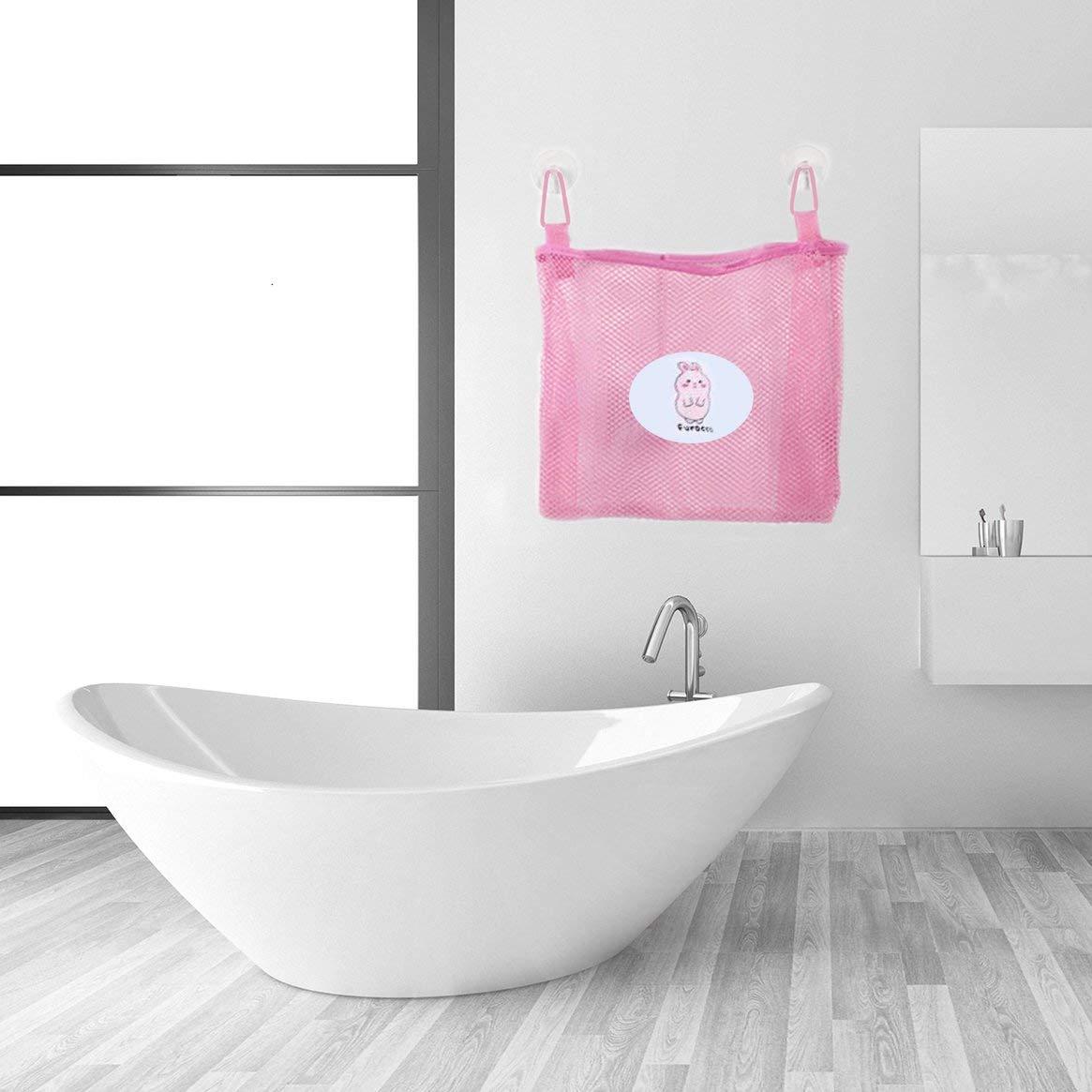 Rejilla port/átil Tela Oxford y Nylon Ventosa doble Juego de art/ículos de tocador de viaje Bolsa de lavado Bolsa de almacenamiento con gancho para colgar rosa