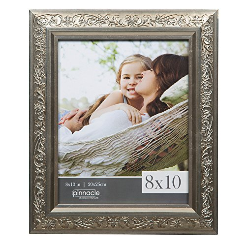 Pinnacle Frames and Accents 8x10 Antique Champagne Ornate Tabletop or Wall Frame ()