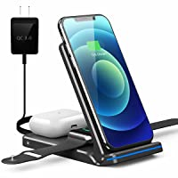 Deals on Pendrajec 3-in-1 Foldable Wireless Charging Station