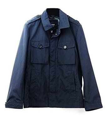 eefd1de28 Image Unavailable. Image not available for. Color: Hugo Boss Black Label  Cheleste 1 Blue Military Jacket Size 44 ...