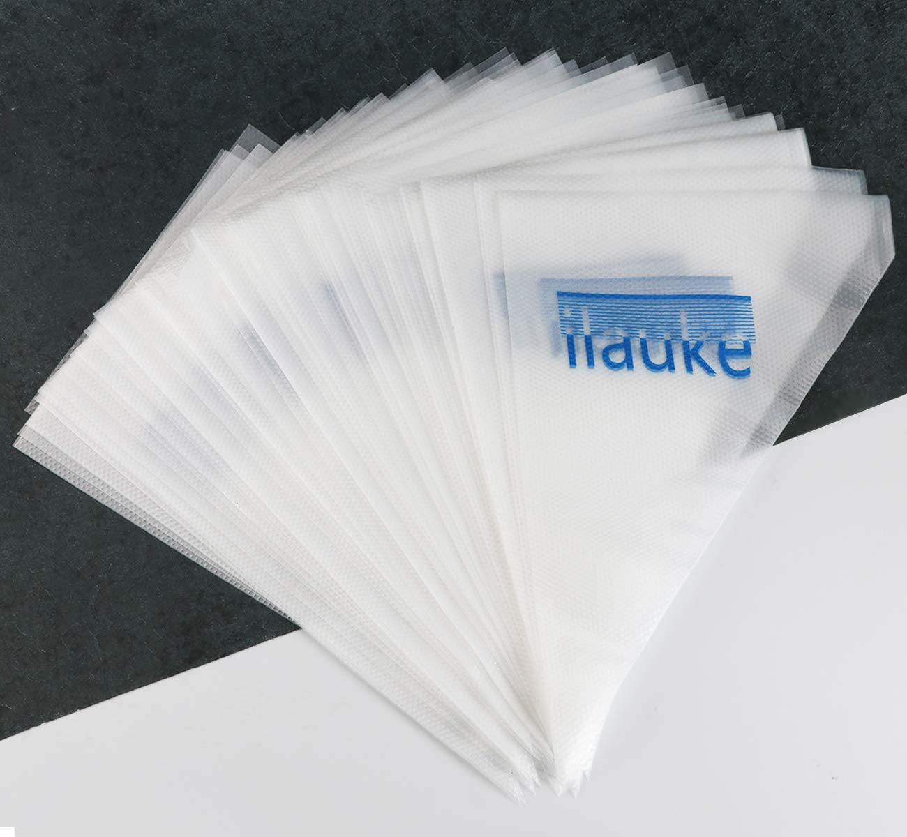 ilauke 200PCS Disposable Pastry Bags Extra Thick Icing Piping Bags [15-Inch] for Baking Supplies,Cupcakes,DIY Cake Decoration Supplies IKL-200 KIT