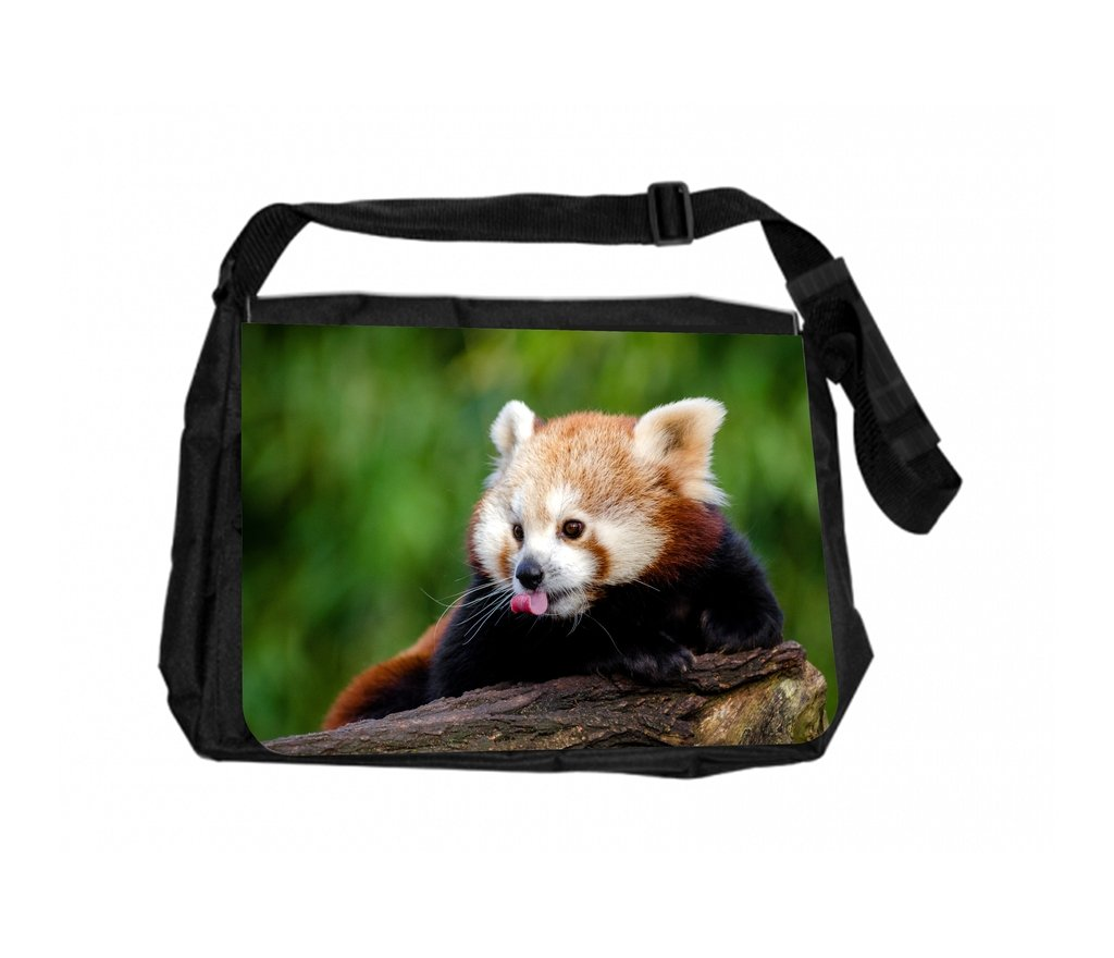 Red Panda Sticking Out Its Tongue Rosie Parker Inc TM School Messenger Bag and Pencil Case Set
