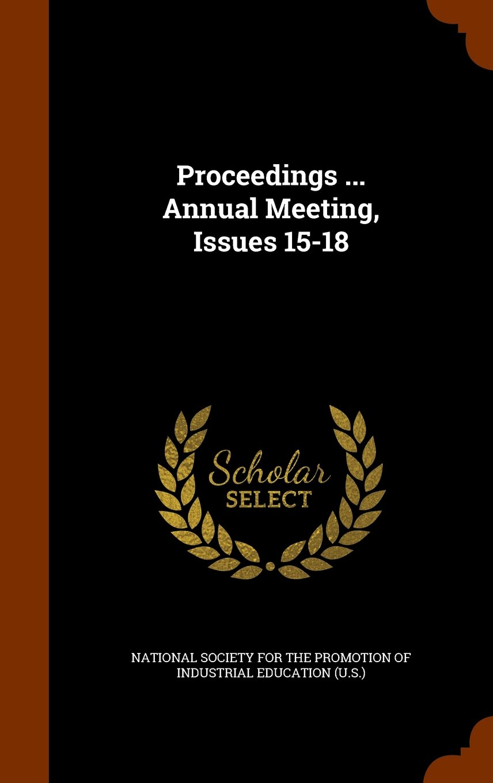 Proceedings ... Annual Meeting, Issues 15-18 ebook