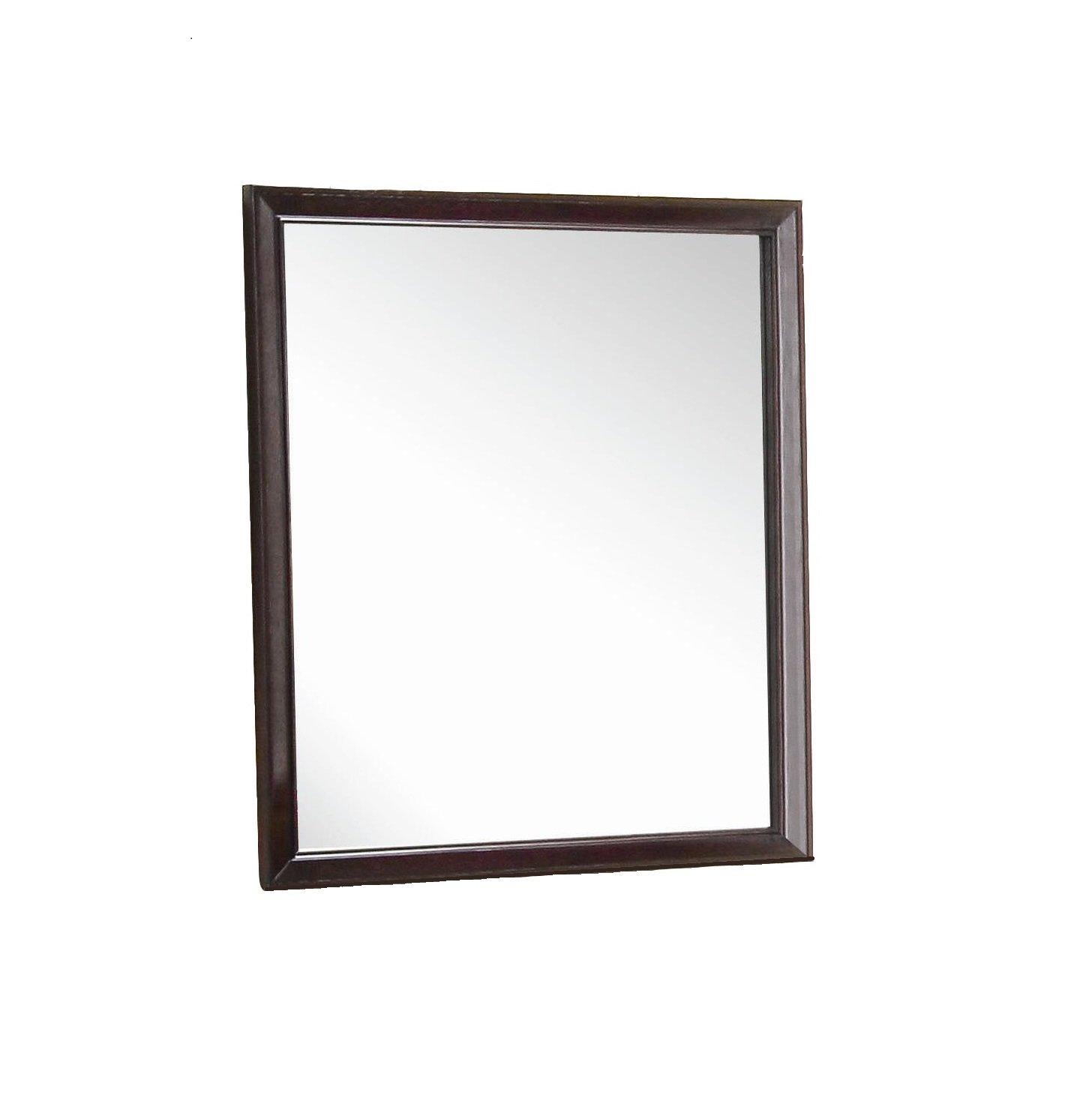 New Spec Modern Styled Mirror Wood Laminate Frame Goes Well with Otago Set, Dark Brown