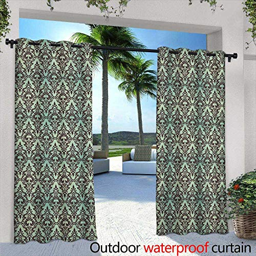 Outdoor Blackout Curtains,Seamless watercolor pattern with feathers Vintage seamless pattern with feathers Watercolor paint Feathers pattern for wallpaper design Watercolor seamless ()
