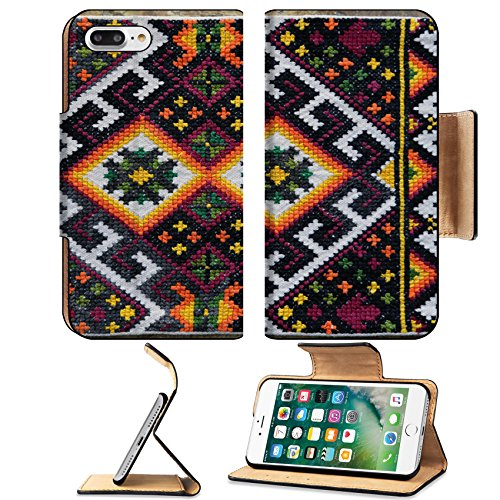Liili Premium Apple iPhone 7 Plus Flip Pu Leather Wallet Case The Ukrainian ornament and embroidery a part of the Ukrainian culture is a lot of centuries 28806341