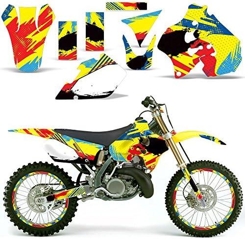 # Plates For Suzuki RM250 1996-1998 SSSH Y K Graphics Kit Decal Sticker Wrap