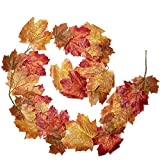Factory Direct Craft Hues of Autumn Artificial Maple Leaf Garland for Indoor Home Decor