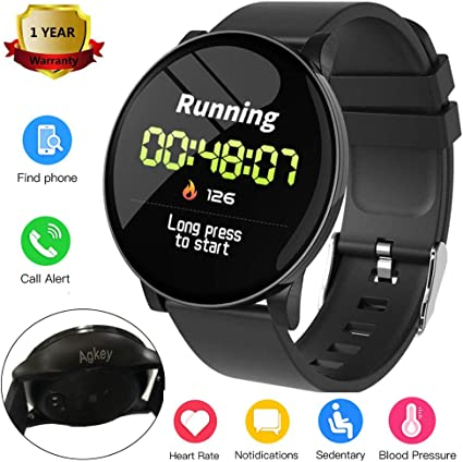 Sport Smart Watch for Men Women Fitness Tracker Waterproof Smartwatch Heart Rate Blood Pressure Sleep Monitor 3 Sports Modes Compatible with iPhone ...