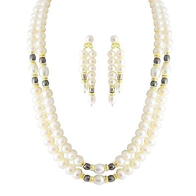 cc83dd00300 Trendy Souk --- Ingenious Double Strings --- Real FreshWater Hyderabadi  Pearls