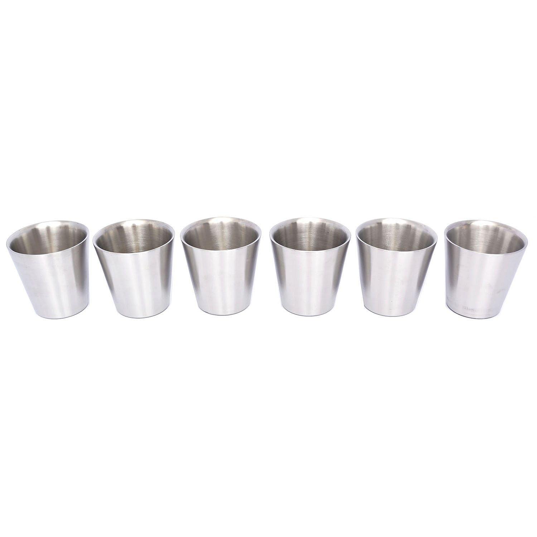Member's Mark 14 oz. Double-Wall Shorty Mule Mug, Set of 6, Stainless Steel