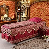 AMEA Beauty bedspreadBeauty bed bedspread bedcover four set/head/body massage fumigation covers , red