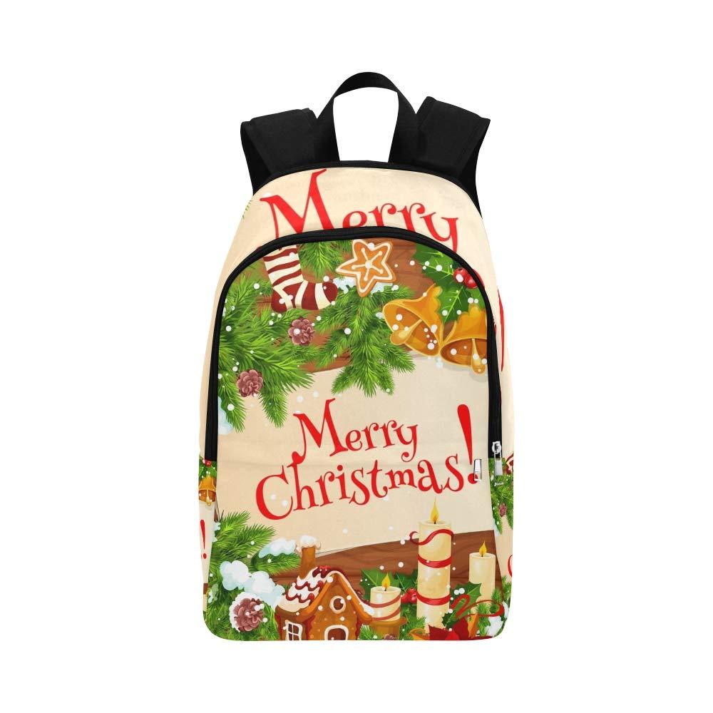 AGIRL Christmas Albero Corona Santa Bell Casual Borsa Borsa da Viaggio per Gli Uomini e Le Donne del College School.