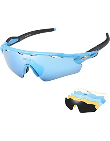84fb94f148 DUCO Polarised Sports Mens Sunglasses for Ski Driving Golf Running Cycling  Tr90 Superlight Frame With 5