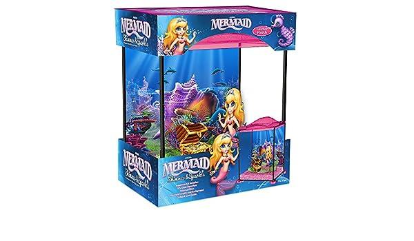 Marina Mermaid Shimmer and Sparkle - Acuario de Juguete con Sirena, 17 L: Amazon.es: Productos para mascotas