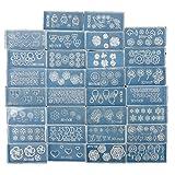 Fashion Zone 30 Acrylic Mold For 3D Nail Art Decoration DIY Set