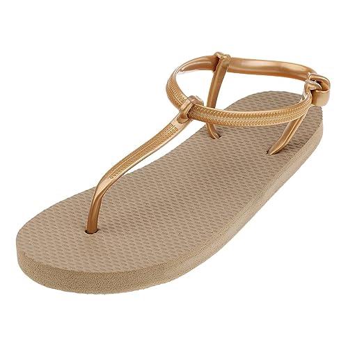 Sharplace damen Zehentrenner Beach Schuhe Flip Flops Flache Schuhe Sandalen