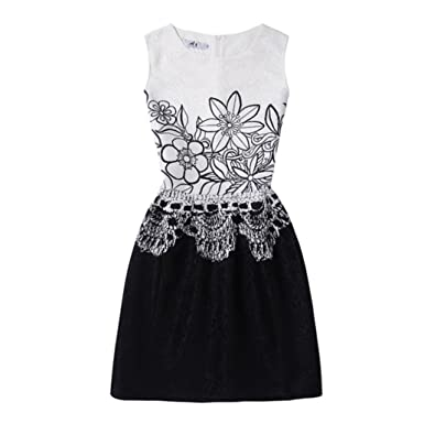 Turkey Princess Dress for 6-12 Years Old, Kids Girls Summer Flower Printed Dress Sleeveless Vintage A-Line Children Kids Outfits Clothes: Amazon.co.uk: ...
