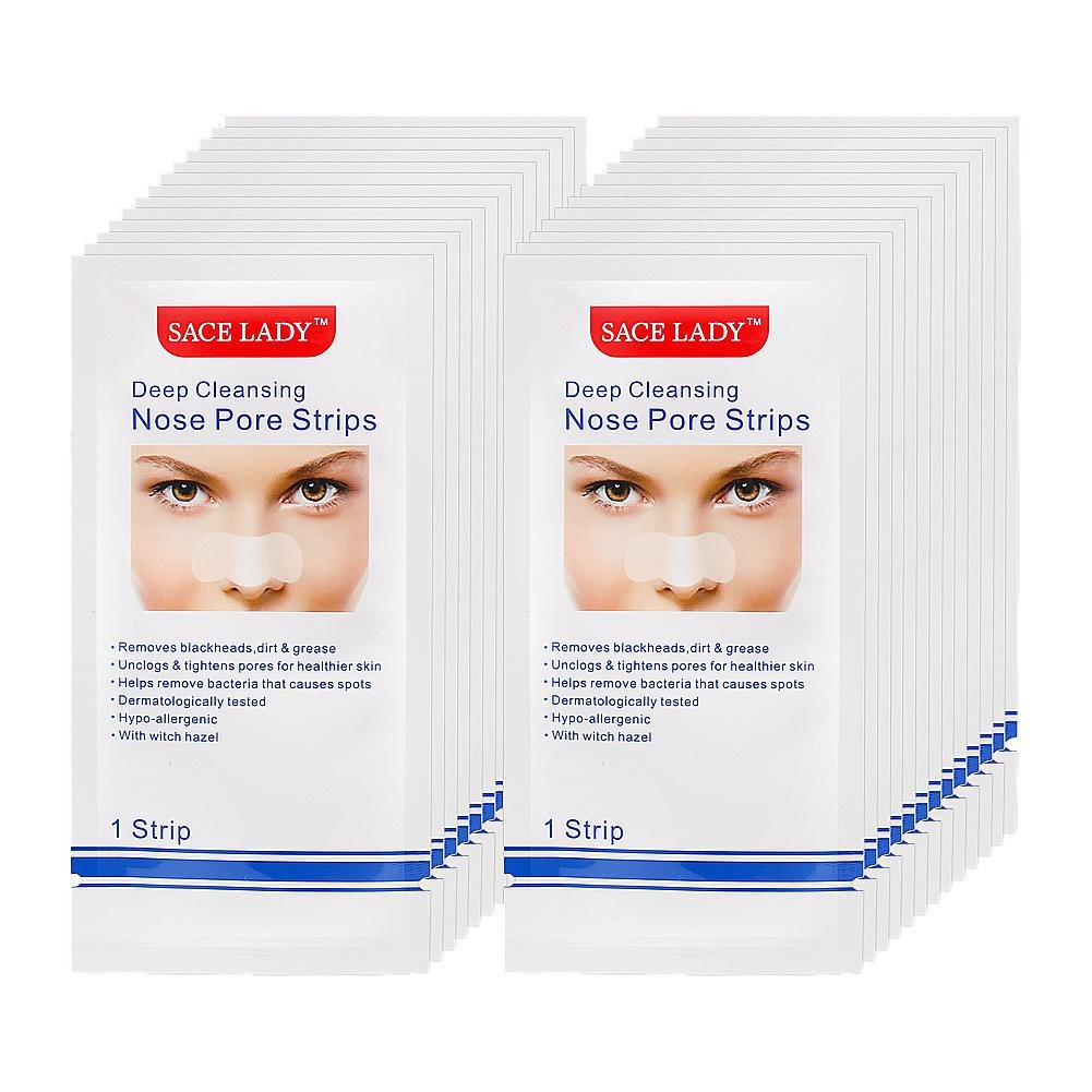 Blackhead Remover Mask, Leegoal Pack of 24 Deep Cleansing Nose Pore Strips, Purifying Peel Off Acne Mask Facial Pore Cleanser