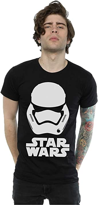 Star Wars hombre Force Awakens Stormtrooper Helmet Camiseta: Amazon.es: Ropa y accesorios