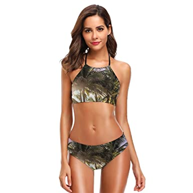 Traje de baño en Forma de Bikini para Mujer, con Traje de baño ...