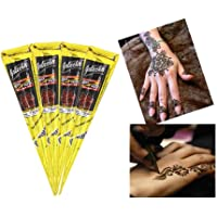 ad9757bd4 India Painting Tattoo Paste Cone,4 Tube Black Paste Cone Indian Body Art  Painting Drawing