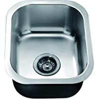 Dawn BS1215 Undermount Single Bowl Bar Sink, Polished Satin