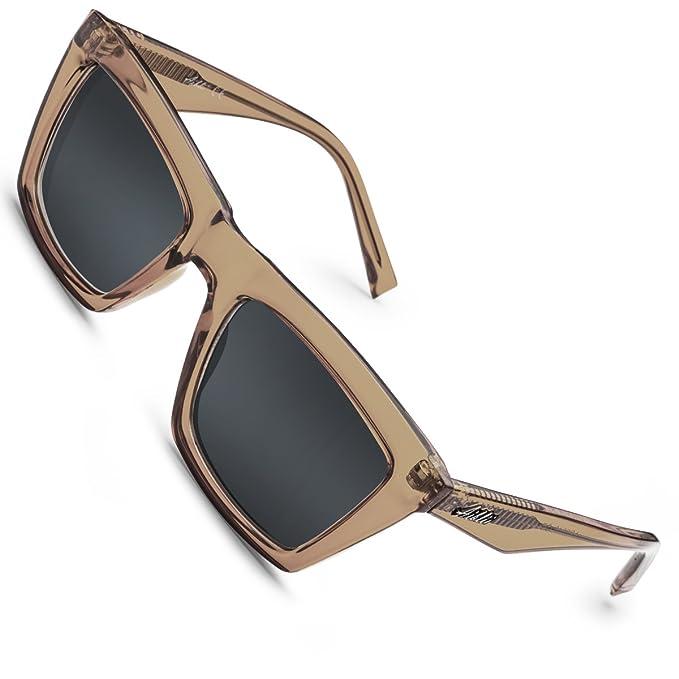 Aiblii Women Men Wayfarer Gafas de sol con lentes reflectantes espejadas Protección UV400 Gafas de sol