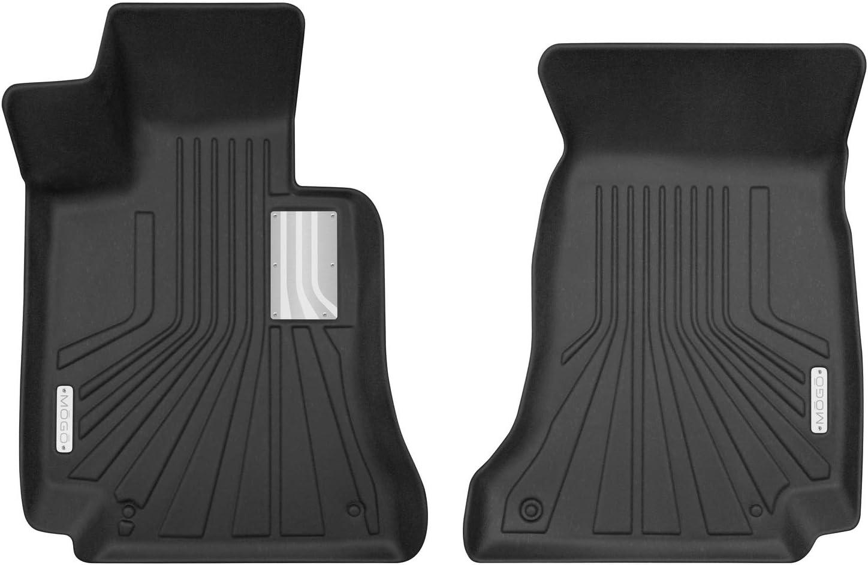 SMARTLINER Custom Fit Floor Mats 2nd Row Liner Black for 2015-2019 Mercedes Benz C Class Sedan Only