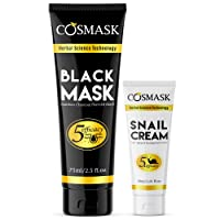 Blackhead Remover Mask, Bamboo Charcoal Peel Off Black face Mask, Purifying and...