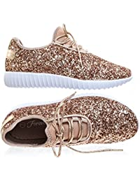 Women's REMY-18 Glitter Fashion Sneakers