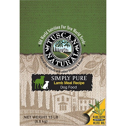 Tuscan Natural Simply Pure Lamb Dry Dog Food 15lb