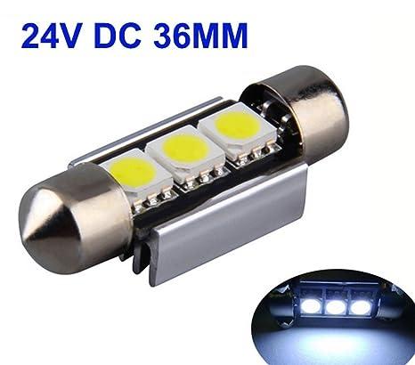 2x 24V Camiones Bombillas LED Auto Interior Iluminación 24V