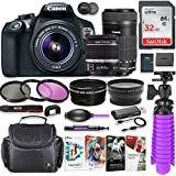 Canon EOS Rebel T6 18MP DSLR Camera with Canon 18-55mm IS II Lens & Canon EF-S 55-250mm f/4-5.6 IS STM Lens + 32GB SD Memory + HD Filters + Spider Tripod + Professional Bundle with Corel Software Kit