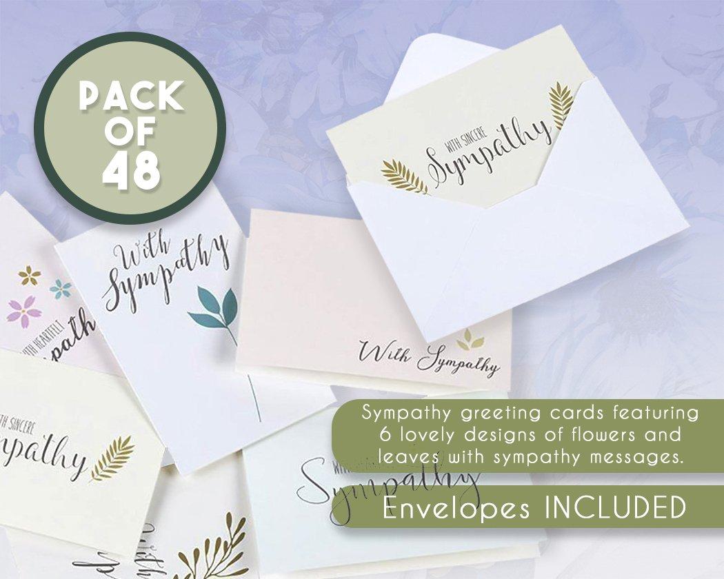 Sympathy Cards 48 Pack Sympathy Cards Bulk Greeting Cards