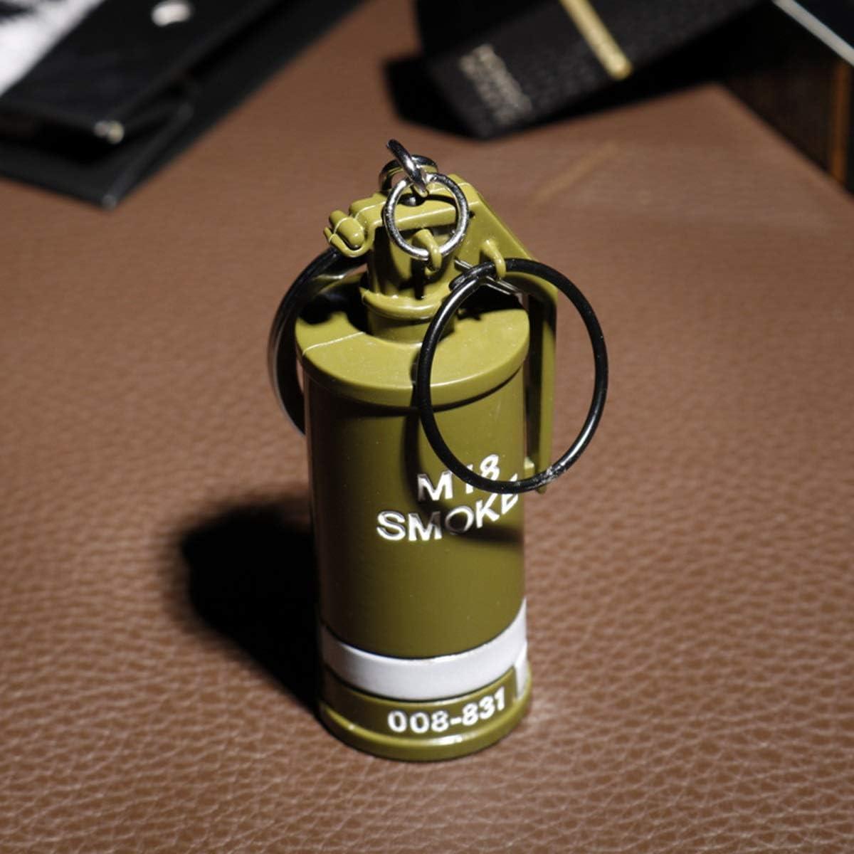 LYXPUZI PUBG Portachiavi Pendente del Sacchetto M18 Bomba fumogena Lega Arma Modello Piccolo Regalo Creativo