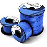 Emmakites 100lb~1000lb Kite Line String Blue UHMWPE High Module Polyethylene for Kite Flying Fishing General Outdoor Purpose - High Strength Resistant to Moisture, UV, Abrasion