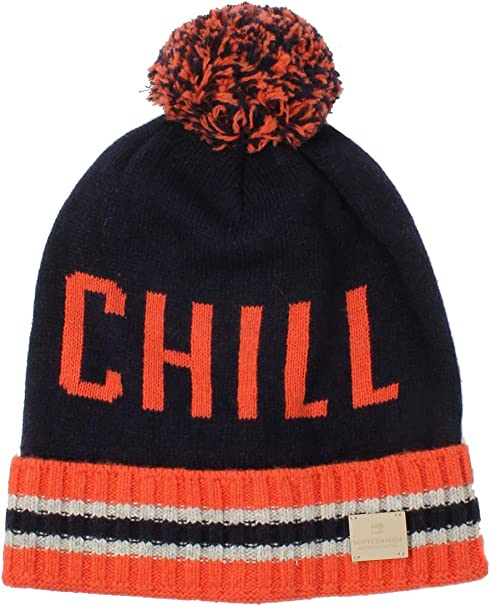 Scotch /& Soda Girls Knitted Beanie with Allover Print Hat