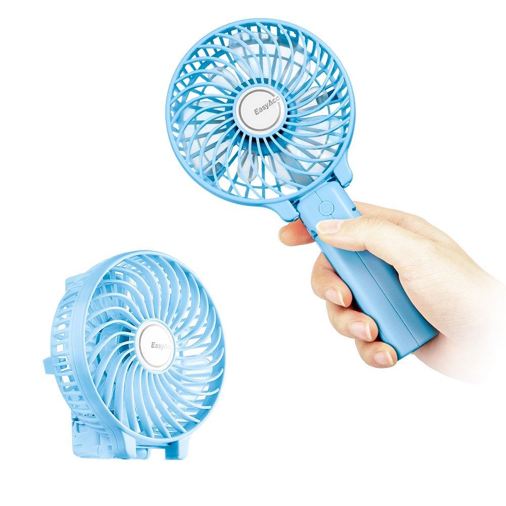 Rosa EasyAcc Palmare Mini Ventilatore Elettrico Con Batteria Ricaricabile Di LG Manico Pieghevole Il Gancio Da Ombrello E Da Scrivania