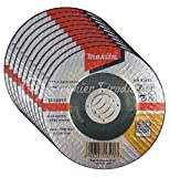 Makita 10 Pack - 4 1 2 Cutting Wheels For Grinders - Flush Cutting For Stainless Steel/INOX - 4-1/2'' x .045 x 7/8-Inch | Depressed Cut Off Wheels