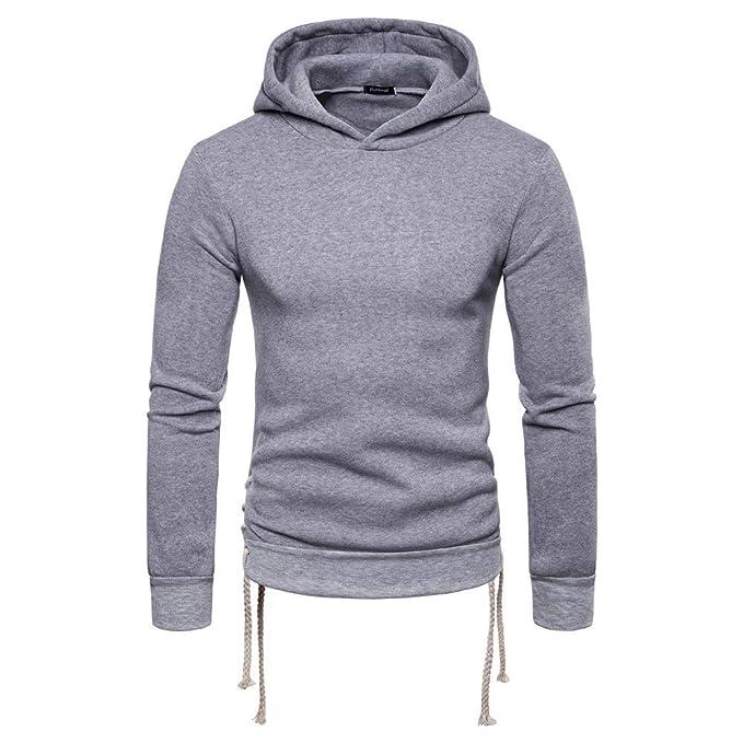 BaZhaHei-Camisetas de hombre, Sudadera con capucha de manga larga con capucha y manga larga de otoño invierno sólido para hombre de Chaqueta con capucha con ...