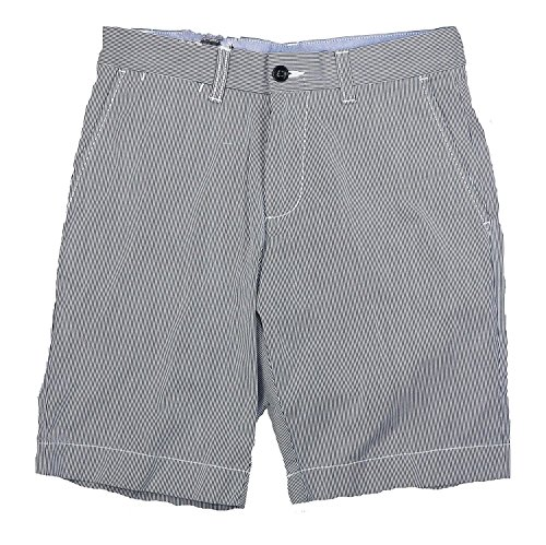 Tommy Hilfiger Mens Striped Flat Front Casual Shorts Blue 38